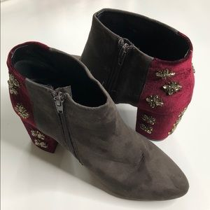 By Farylrobin Bejeweled Heel Boots